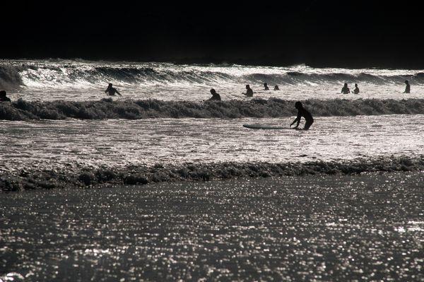 Fun in the surf at Caswell Bay