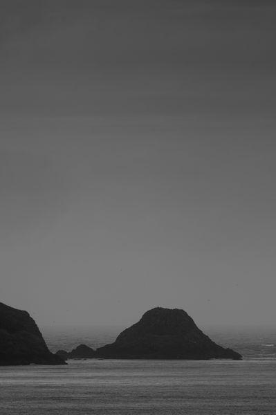 Skomer Headland in the rain