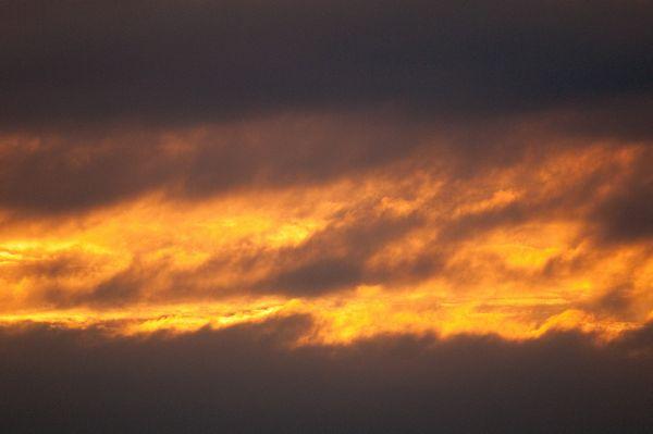 Cloud patterns at sunset, Snettisham