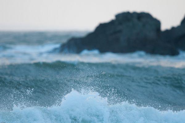 Wave spray, Langland Bay, Gower Peninsula