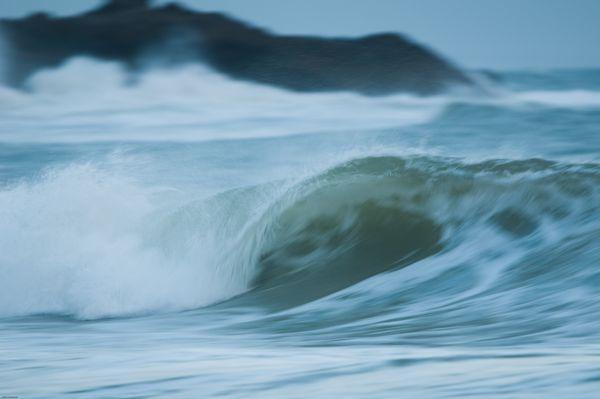 Wave motion at Langland Bay