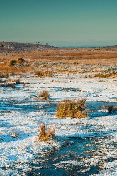 Cefn Bryn with a sprinkling of snow