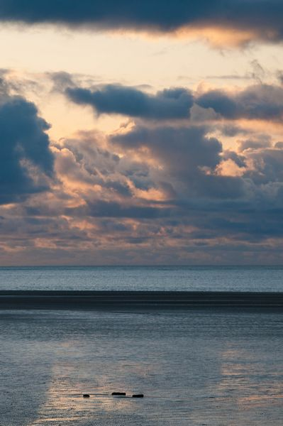 End of the day at Whiteford Sands, Gower Peninsula