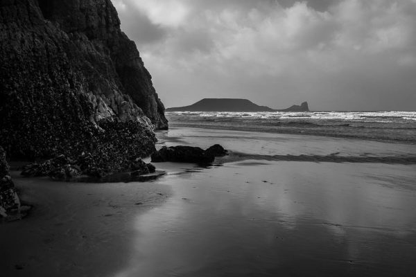 Worm's Head from Rhossili Bay, Gower Peninsula
