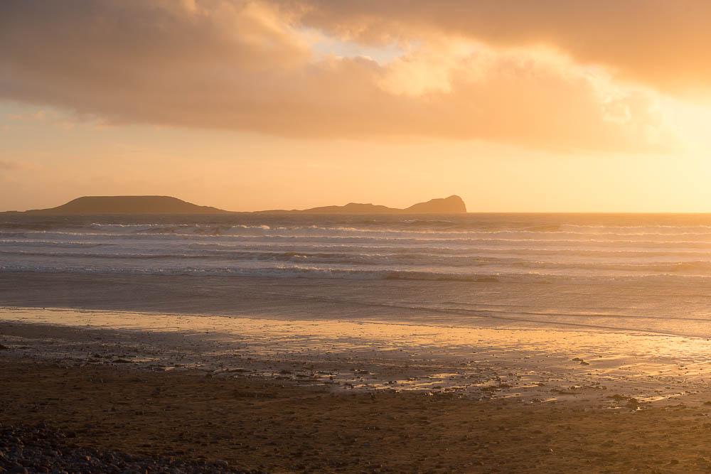 Changing evening light at Llangennith, Gower Peninsula