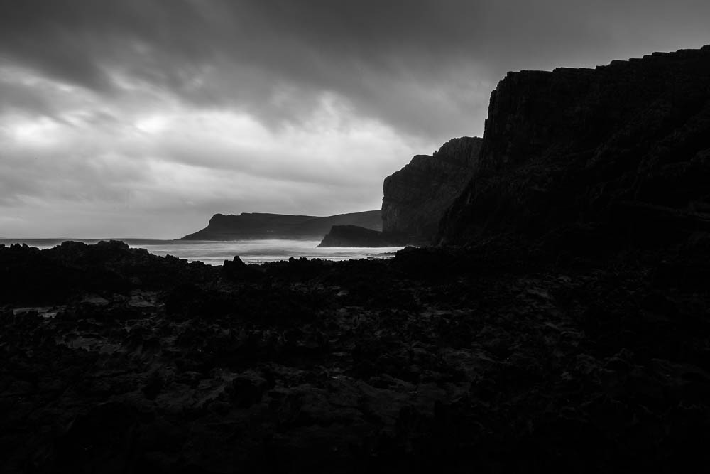 Working with the gloom, Gower Peninsula