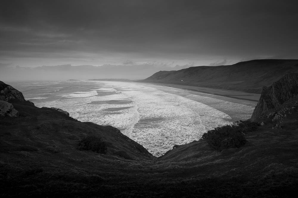 Before the storm – Rhossili Bay, Gower Peninsula before Storm Katie arrived